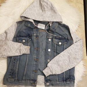Eighty two hooded denim jacket